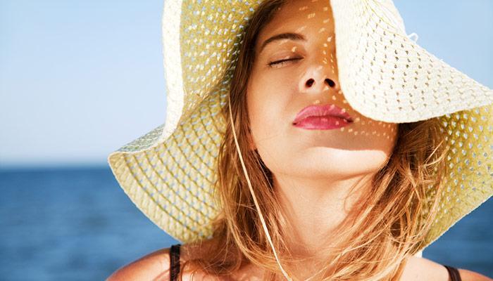 Защита кожи от солнца.